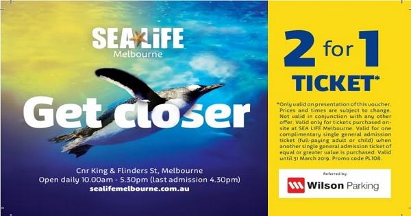 【2019墨爾本3月特價通知】好康的來囉~!墨爾本水族館Sea Life Melbourne 門票買一送一折扣券~!