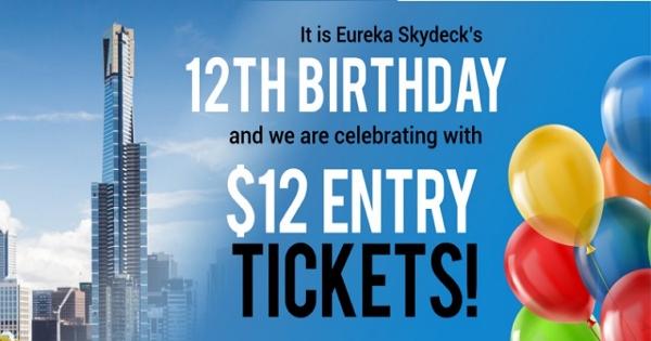 """【2019墨爾本5月特價通知】""""墨爾本101""""——Eureka Skydeck 12歲生日特價門票"""