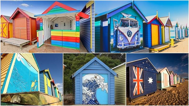 墨爾本彩色小屋