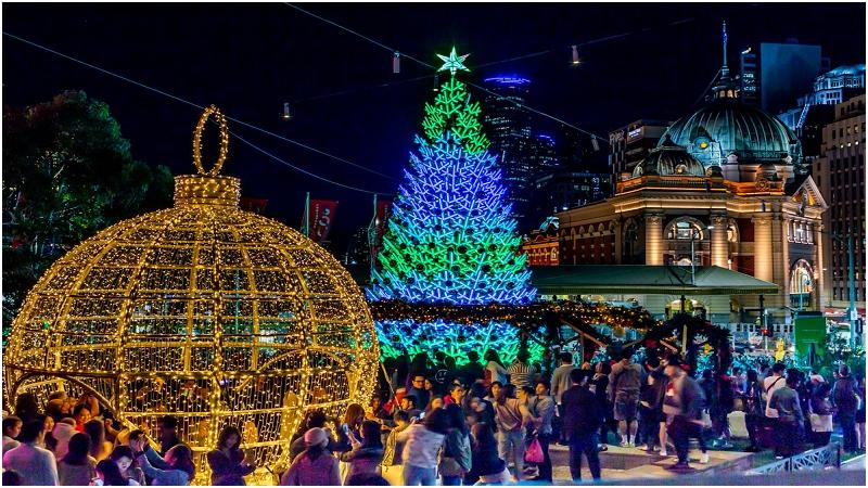墨爾本聖誕樹燈光秀
